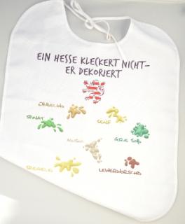 """Latz für Erwachsene /""""Ein Hesse kleckert nicht er dekoriert/"""""""