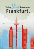 "Plakat ""Downtown Frankfurt"""